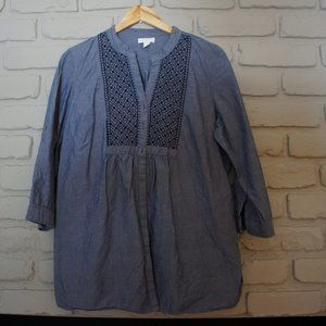 Charter Club Tunic Top with Roll-up Sleeves